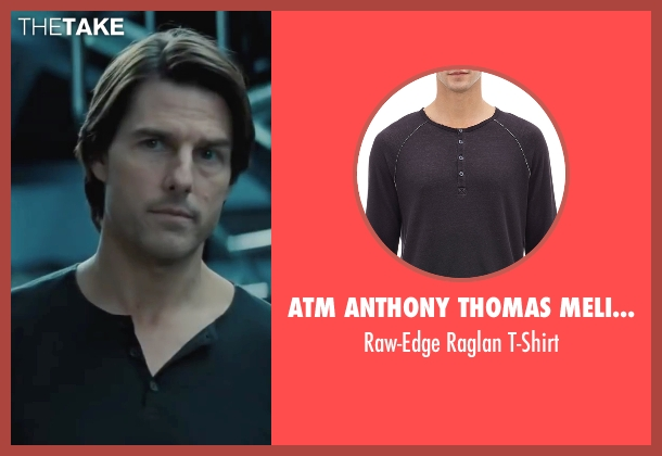 ATM Anthony Thomas Melillo black t-shirt from Mission: Impossible - Ghost Protocol seen with Tom Cruise (Ethan Hunt)