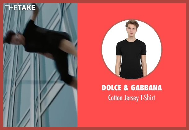 Dolce & Gabbana black t-shirt from Mission: Impossible - Ghost Protocol seen with Tom Cruise (Ethan Hunt)