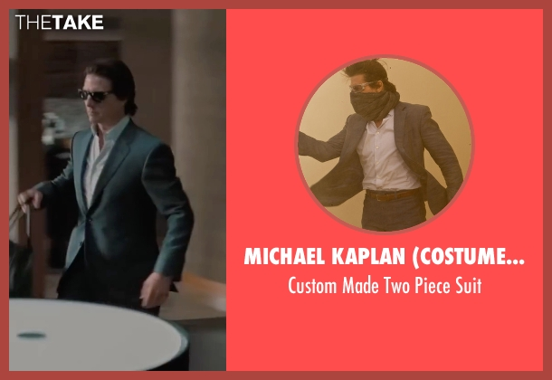 Michael Kaplan (Costume Designer) blue suit from Mission: Impossible - Ghost Protocol seen with Tom Cruise (Ethan Hunt)
