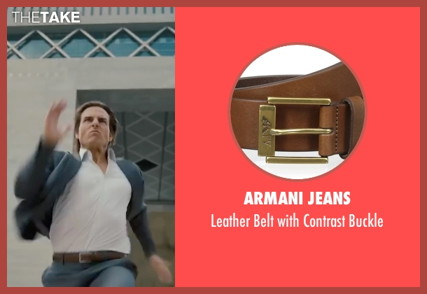 Armani Jeans brown buckle from Mission: Impossible - Ghost Protocol seen with Tom Cruise (Ethan Hunt)