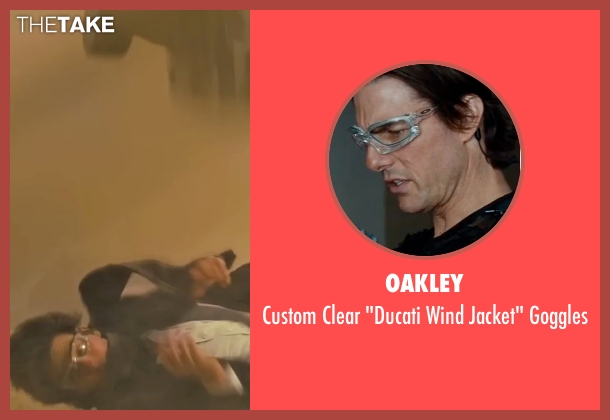 Oakley goggles from Mission: Impossible - Ghost Protocol seen with Tom Cruise (Ethan Hunt)
