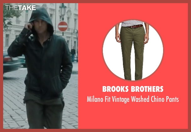 Brooks Brothers green pants from Mission: Impossible - Ghost Protocol seen with Tom Cruise (Ethan Hunt)