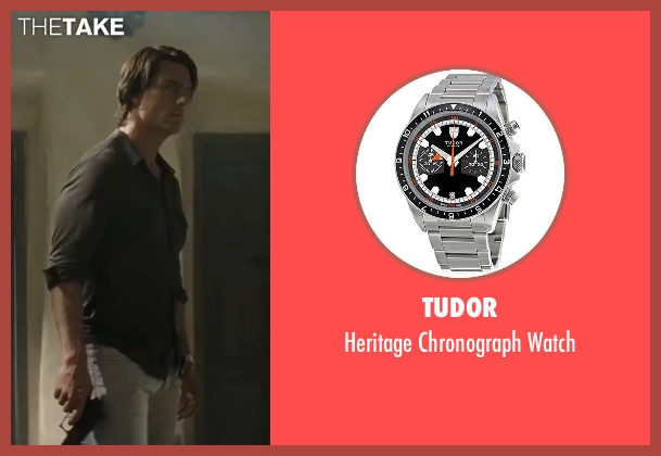 Tudor silver watch from Mission: Impossible - Ghost Protocol seen with Tom Cruise (Ethan Hunt)