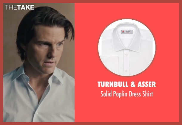 Turnbull & Asser white shirt from Mission: Impossible - Ghost Protocol seen with Tom Cruise (Ethan Hunt)
