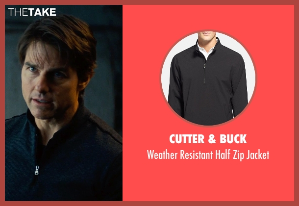 Cutter & Buck black jacket from Mission: Impossible - Rogue Nation seen with Tom Cruise (Ethan Hunt)