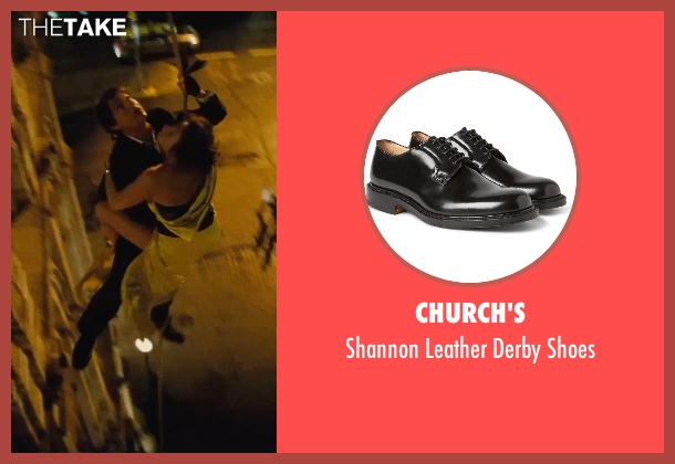Church's black shoes from Mission: Impossible - Rogue Nation seen with Tom Cruise (Ethan Hunt)