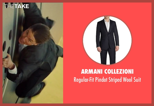 Armani Collezioni black suit from Mission: Impossible - Rogue Nation seen with Tom Cruise (Ethan Hunt)