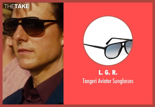 L. G. R. black sunglasses from Mission: Impossible - Rogue Nation seen with Tom Cruise (Ethan Hunt)