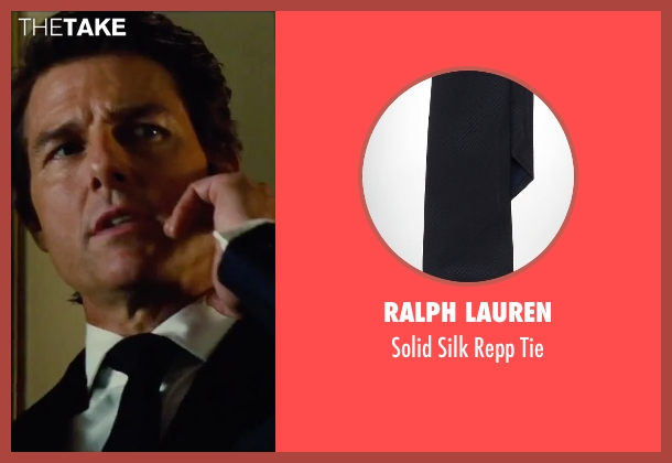 Ralph Lauren black tie from Mission: Impossible - Rogue Nation seen with Tom Cruise (Ethan Hunt)