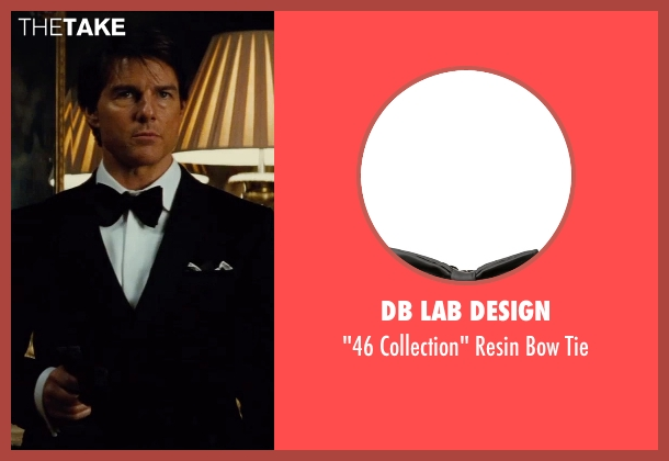 Db Lab Design black tie from Mission: Impossible - Rogue Nation seen with Tom Cruise (Ethan Hunt)