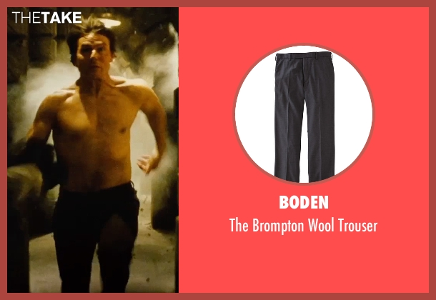 Boden black trouser from Mission: Impossible - Rogue Nation seen with Tom Cruise (Ethan Hunt)