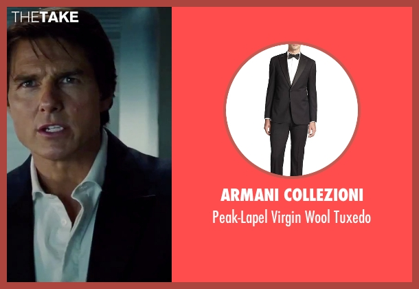 Armani Collezioni black tuxedo from Mission: Impossible - Rogue Nation seen with Tom Cruise (Ethan Hunt)