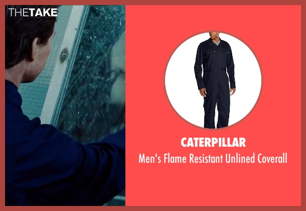 Caterpillar blue coverall from Mission: Impossible - Rogue Nation seen with Tom Cruise (Ethan Hunt)