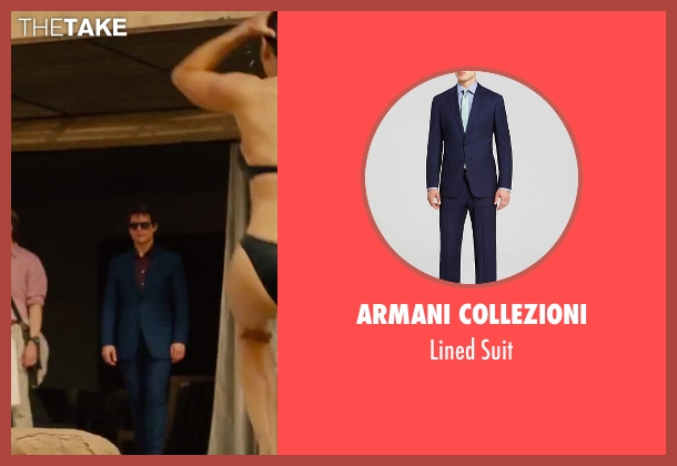 Armani Collezioni blue suit from Mission: Impossible - Rogue Nation seen with Tom Cruise (Ethan Hunt)