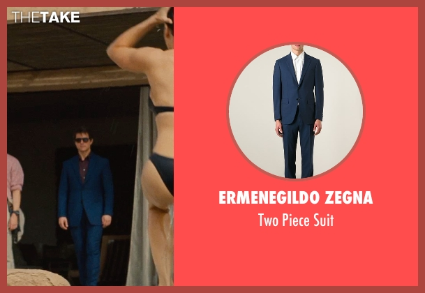 Ermenegildo Zegna blue suit from Mission: Impossible - Rogue Nation seen with Tom Cruise (Ethan Hunt)