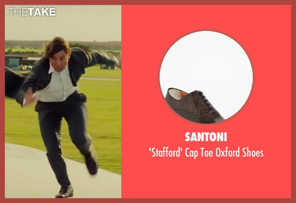 Santoni brown shoes from Mission: Impossible - Rogue Nation seen with Tom Cruise (Ethan Hunt)