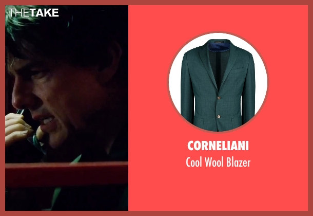 Corneliani green blazer from Mission: Impossible - Rogue Nation seen with Tom Cruise (Ethan Hunt)