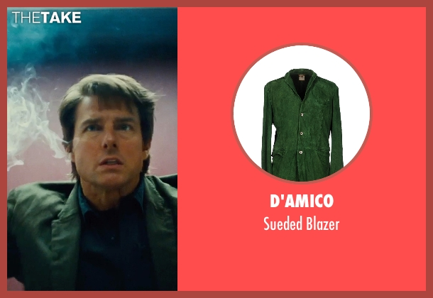 D'amico green blazer from Mission: Impossible - Rogue Nation seen with Tom Cruise (Ethan Hunt)