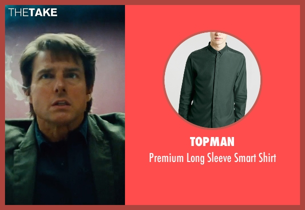 Topman green shirt from Mission: Impossible - Rogue Nation seen with Tom Cruise (Ethan Hunt)