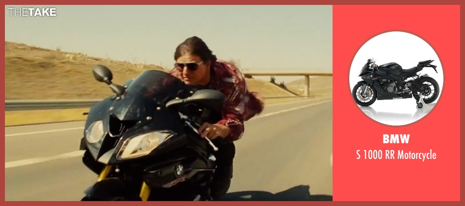 BMW motorcycle from Mission: Impossible - Rogue Nation seen with Tom Cruise (Ethan Hunt)