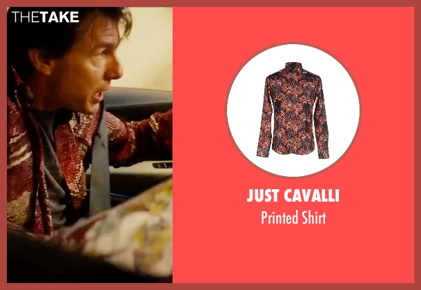 Just Cavalli red shirt from Mission: Impossible - Rogue Nation seen with Tom Cruise (Ethan Hunt)