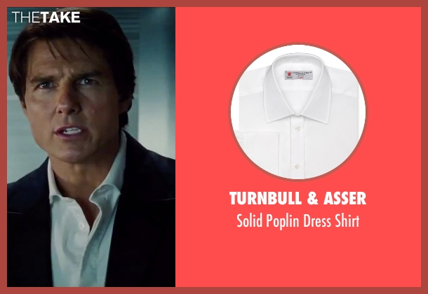 Turnbull & Asser white shirt from Mission: Impossible - Rogue Nation seen with Tom Cruise (Ethan Hunt)