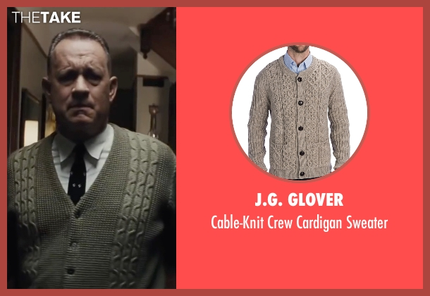 J.G. Glover beige sweater from Bridge of Spies seen with Tom Hanks (James Donovan)