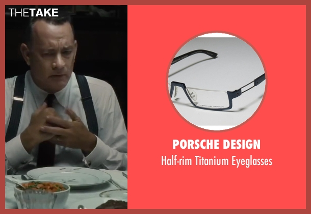 Porsche Design black eyeglasses from Bridge of Spies seen with Tom Hanks (James Donovan)