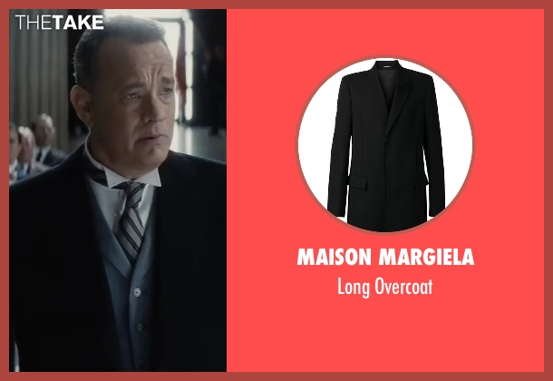 Maison Margiela black overcoat from Bridge of Spies seen with Tom Hanks (James Donovan)