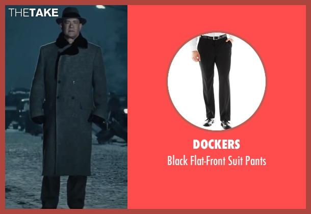 Dockers black pants from Bridge of Spies seen with Tom Hanks (James Donovan)