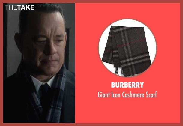 Burberry black scarf from Bridge of Spies seen with Tom Hanks (James Donovan)
