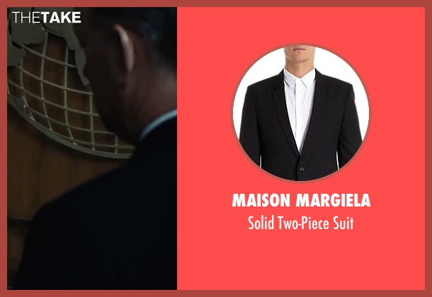 Maison Margiela black suit from Bridge of Spies seen with Tom Hanks (James Donovan)