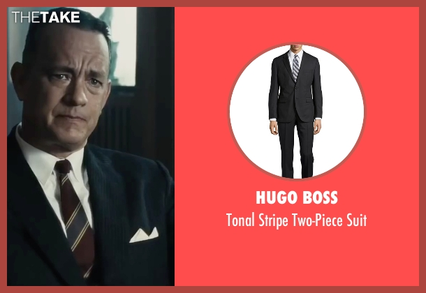 Hugo Boss black suit from Bridge of Spies seen with Tom Hanks (James Donovan)
