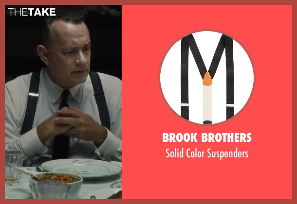 Brook Brothers black suspenders from Bridge of Spies seen with Tom Hanks (James Donovan)