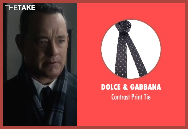 Dolce & Gabbana black tie from Bridge of Spies seen with Tom Hanks (James Donovan)