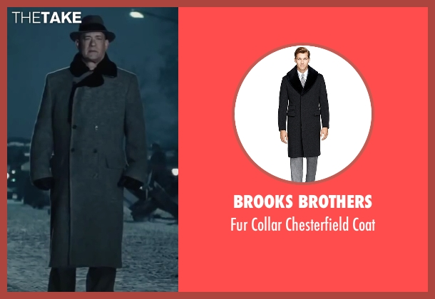 Brooks Brothers gray coat from Bridge of Spies seen with Tom Hanks (James Donovan)