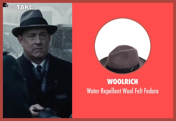 Woolrich gray fedora from Bridge of Spies seen with Tom Hanks (James Donovan)