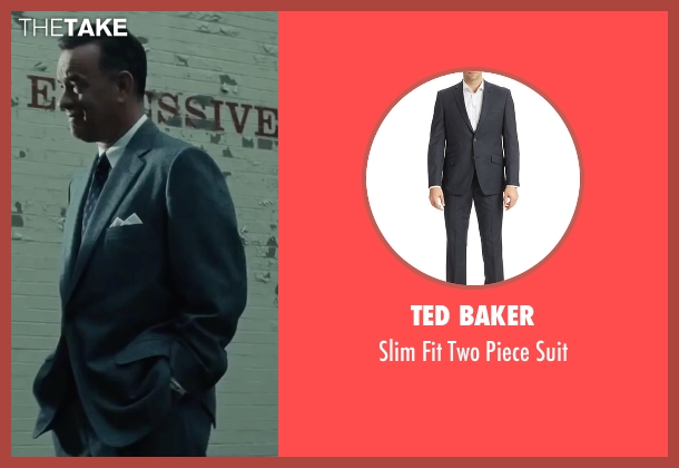 Ted Baker gray suit from Bridge of Spies seen with Tom Hanks (James Donovan)