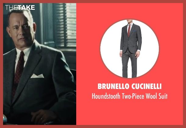 Brunello Cucinelli gray suit from Bridge of Spies seen with Tom Hanks (James Donovan)