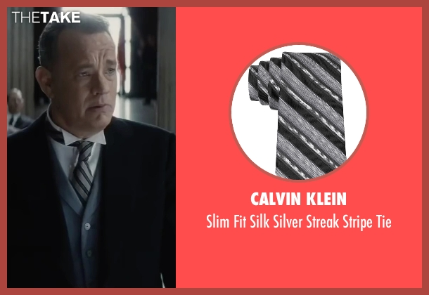 Calvin Klein gray tie from Bridge of Spies seen with Tom Hanks (James Donovan)
