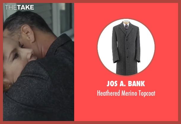 Jos A. Bank gray topcoat from Bridge of Spies seen with Tom Hanks (James Donovan)