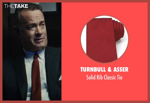 Turnbull & Asser red tie from Bridge of Spies seen with Tom Hanks (James Donovan)