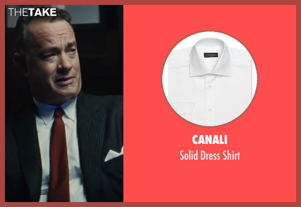 Canali white shirt from Bridge of Spies seen with Tom Hanks (James Donovan)