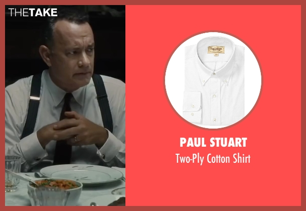 Paul Stuart white shirt from Bridge of Spies seen with Tom Hanks (James Donovan)