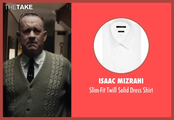 Isaac Mizrahi white shirt from Bridge of Spies seen with Tom Hanks (James Donovan)