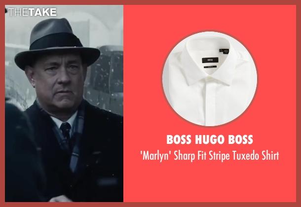Boss Hugo Boss white shirt from Bridge of Spies seen with Tom Hanks (James Donovan)