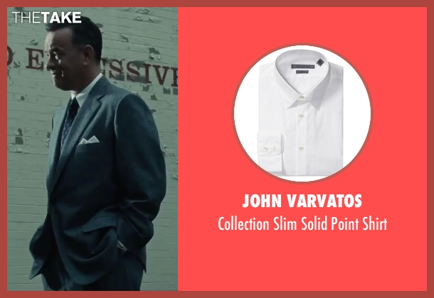 John Varvatos white shirt from Bridge of Spies seen with Tom Hanks (James Donovan)