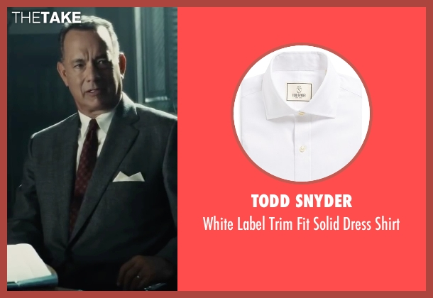 Todd Snyder white shirt from Bridge of Spies seen with Tom Hanks (James Donovan)