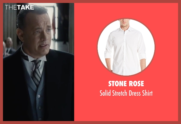 Stone Rose white shirt from Bridge of Spies seen with Tom Hanks (James Donovan)