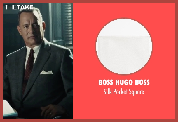 Boss Hugo Boss white square from Bridge of Spies seen with Tom Hanks (James Donovan)